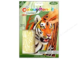 Royal Color Pencil by Number Mini Jungle Tiger