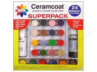 Delta Ceramcoat Acrylic Paint Super Pack - Basic, 24 Colors