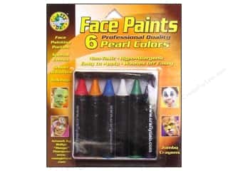 Crafty Dab Jumbo Crayon Face Paint - Pearl Colors 6 pc.
