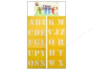 craft & hobbies: Delta Alphabet Stencil 2 in. Basic