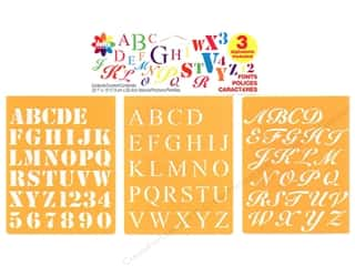 stencils: Delta Stencil Mania Value Pack Fonts 3 pc.