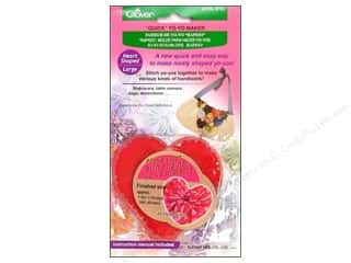 ruler: Clover Quick Yo-Yo Maker Heart 1 5/8 x 1 3/4 in. Large