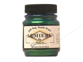 craft & hobbies: Jacquard Lumiere Paint 2.25 oz. #556 Halo Blue Gold