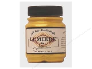craft & hobbies: Jacquard Lumiere Paint 2.25 oz. #561 Metallic Gold