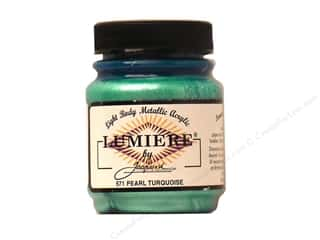 craft & hobbies: Jacquard Lumiere Paint 2.25 oz. #571 Pearl Turquoise