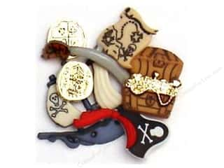 scrapbooking & paper crafts: Jesse James Dress It Up Embellishments Pirates