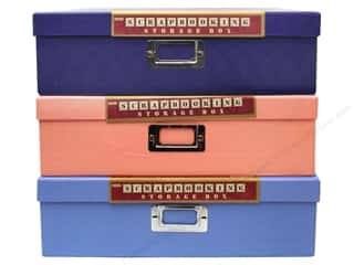 craft & hobbies: Pioneer Scrapbooking Storage Box 12 x 12 in. Assorted Colors 1 pc.