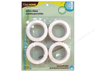 Dritz Home Curtain Grommets 1 9/16 in. Round White 8pc