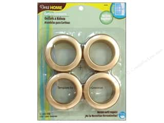 "1 9/16"" curtain grommets: Dritz Home Curtain Grommets 1 9/16 in. Round Matte Gold 8pc"