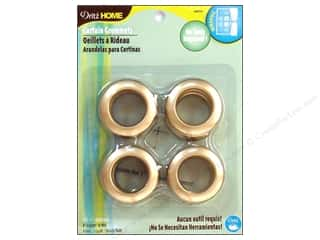 dritz curtain grommets: Dritz Home Curtain Grommets 1 in. Round Matte Gold 8pc
