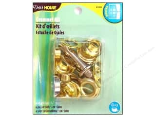 Grommets: Dritz Home Grommet Kit 7/16 in. Round Brass 10pc