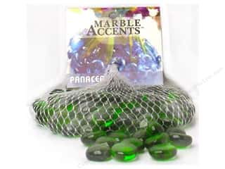 decorative floral: Panacea Glass Gems 12 oz. Forest Green