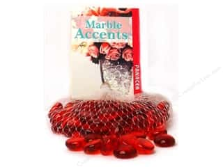 decorative floral: Panacea Glass Gems 12 oz. Red 10 oz.