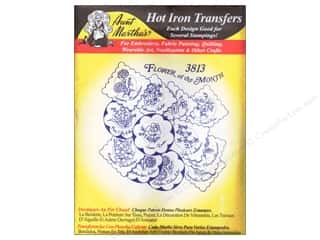 yarn & needlework: Aunt Martha's Hot Iron Transfer #3813 Flower of Month