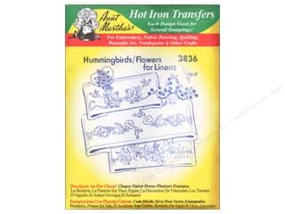 yarn & needlework: Aunt Martha's Hot Iron Transfer #3836 Hummingbirds and Flowers for Linens