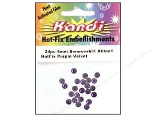 Kandi Swarovski Xilion Hotfix Crystals 4 mm 24 pc. Purple Velvet