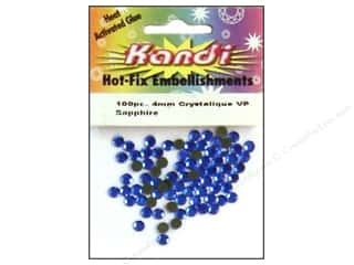 beading & jewelry making supplies: Kandi Crystalique Hotfix Crystals 4 mm 100 pc. Sapphire