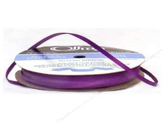 "1/8 "" ribbon: Offray Double Face Satin Ribbon 1/8 in. x 30 yd. Purple (30 yards)"