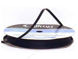 Satin Ribbon: Offray Double Face Satin Ribbon 1/8 in. x 30 yd. Black (30 yards)