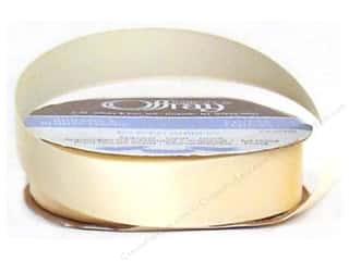 Offray Single Face Satin Ribbon 7/8 in. x 20 yd. Cream (20 yards)