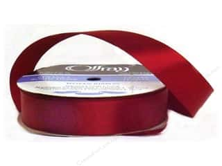 Polyester Ribbon / Synthetic Blend Ribbon: Offray Single Face Satin Ribbon 7/8 in. x 20 yd. Wine (20 yards)