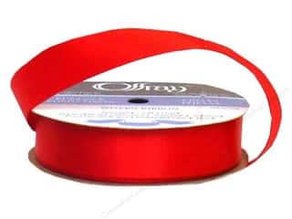 Offray Single Face Satin Ribbon 7/8 in. x 20 yd. Red (20 yards)