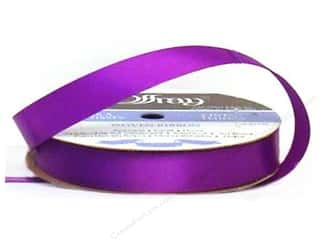 Offray Single Face Satin Ribbon 5/8 in. x 20 yd. Purple (20 yards)