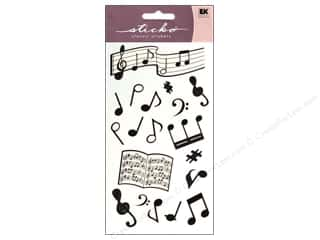 Sticko Stickers - Silhouette Musical Notes