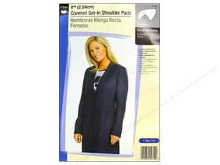 Covered Set In Shoulder Pads by Dritz 1 in. White