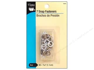 Dritz Snap Fasteners 7/16 in. White 7 pc.