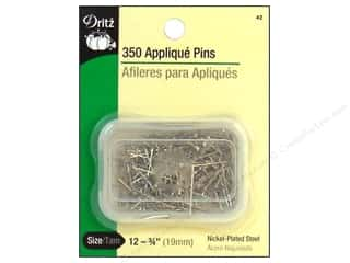Dritz Applique Pins 350 pc. Size 12