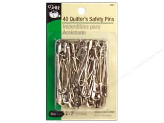 Quilter's Safety Pins by Dritz Nickel 40pc