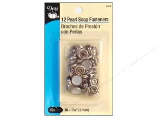 Pearl Snap Fasteners by Dritz 7/16 in. White 12 pc.