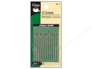 sewing & quilting: Crewel Needles by Dritz Size 2 12pc
