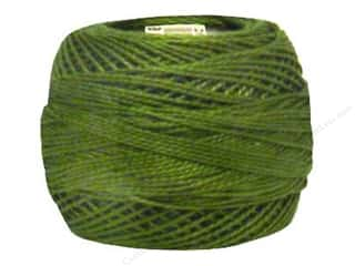 yarn & needlework: DMC Pearl Cotton Ball Size 8 #0469 Avocado Green (10 balls)