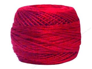 yarn & needlework: DMC Pearl Cotton Ball Size 8 #498 Dark Red (10 balls)