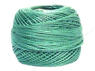 yarn & needlework: DMC Pearl Cotton Ball Size 8 #503 Medium Blue Green (10 balls)