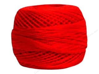DMC Pearl Cotton Ball Size 8 #0666 Bright Red (10 balls)