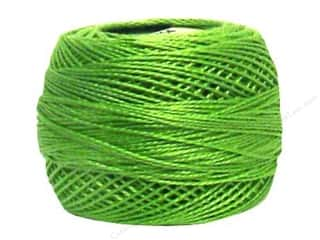 yarn & needlework: DMC Pearl Cotton Ball Size 8 #704 Bright Charteuse (10 balls)