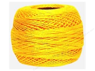 yarn & needlework: DMC Pearl Cotton Ball Size 8 #743 Medium Yellow (10 balls)
