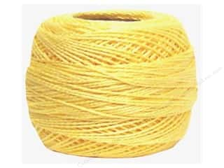 yarn & needlework: DMC Pearl Cotton Ball Size 8 #745 Light Pale Yellow (10 balls)