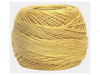 yarn & needlework: DMC Pearl Cotton Ball Size 8 #0676 Light Old Gold (10 balls)