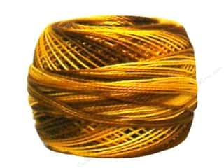 yarn: DMC Pearl Cotton Ball Size 8 #0111 Variegated Mustard (10 balls)