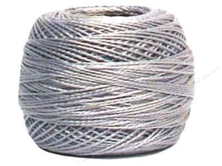 yarn & needlework: DMC Pearl Cotton Ball Size 8 #415 Pearl Gray (10 balls)