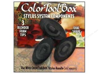 Dauber: ColorBox Tool Foam Blender Tip Oval 3pc