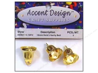 craft & hobbies: PA Essentials Liberty Bell 5/8 in. 3 pc. Gold