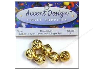 Clearance: PA Essentials Jingle Bells 1/2 in. 6 pc. Gold