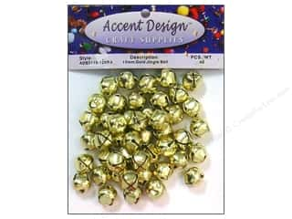 craft & hobbies: PA Essentials Jingle Bells 1/2 in. 45 pc. Gold