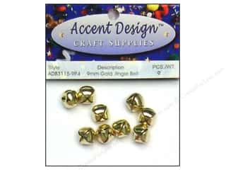PA Essentials Jingle Bells 3/8 in. 9 pc. Gold