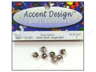 Jingle Bells by Accent Design 1/4 in. 7 pc. Silver